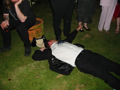 drunk wedding guests